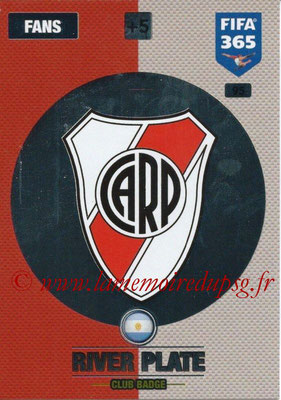 2016-17 - Panini Adrenalyn XL FIFA 365 - N° 095 - Logo CA River Plate (Badge club)