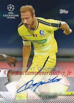2015-16 - Topps UEFA Champions League Showcase Soccer - N° CLA-LD - Laurent DEPOITRE (KAA Gent) (Base Autographs Cards)