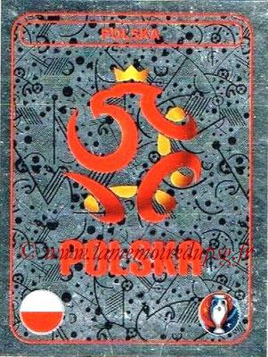 Panini Euro 2016 Stickers - N° 238 - Logo Pologne