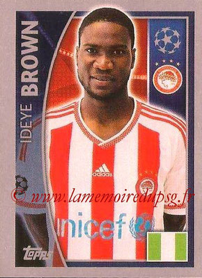 2015-16 - Topps UEFA Champions League Stickers - N° 418 - Ideye BROWN(Olympiacos FC)