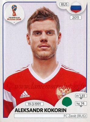 2018 - Panini FIFA World Cup Russia Stickers - N° 051 - Aleksandr KOKORIN (Russie)