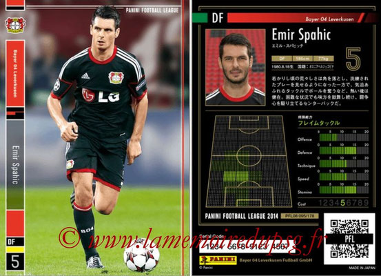 Panini Football League 2014 - PFL08 - N° 095 - Emir SPAHIC (Bayer Leverkusen)