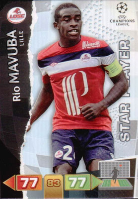 2011-12 - Panini Champions League Cards - N° 127 - Rio MAVUBA (Lille) (Star Player)