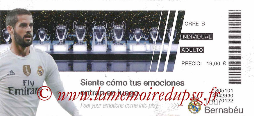 2015-16  Ticket  Tour Bernabeu