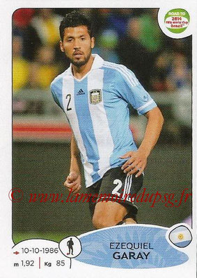 2014 - Panini Road to FIFA World Cup Brazil Stickers - N° 058 - EzequieL GARAY (Argentine)