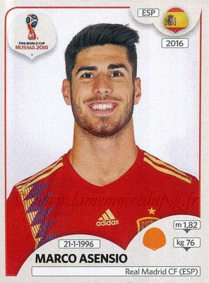 2018 - Panini FIFA World Cup Russia Stickers - N° 145 - Marco ASENSIO (Espagne)