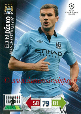 2012-13 - Adrenalyn XL champions League N° 133 - Edin DZEKO (Manchester City FC)