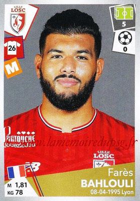 2017-18 - Panini Ligue 1 Stickers - N° 167 - Farès BAHLOULI (Lille)
