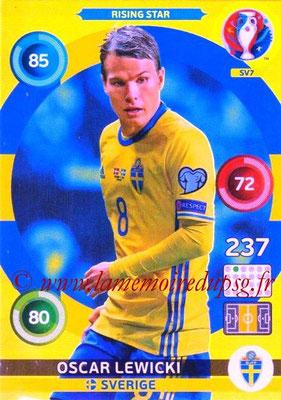 Panini Euro 2016 Cards - N° SV7 - Oscar LEWICKI (Suède) (Rising Star) (Nordic Edition)