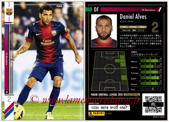 Panini Football League 2013 - PFL04 - N° 033 - Daniel ALVES (FC Barcelone)