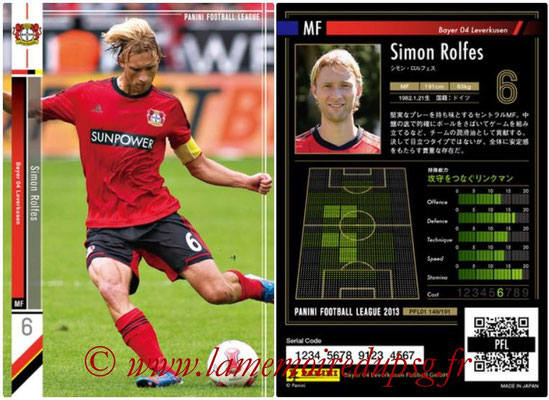Panini Football League 2013 - PFL01 - N° 149 - Simon Rolfes ( Bayer 04 Leverkusen )