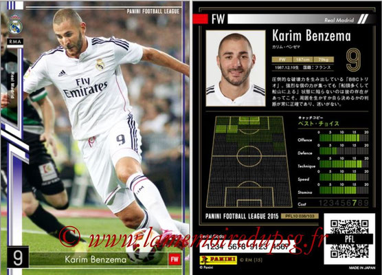 Panini Football League 2015 - PFL10 - N° 038 - Karim BENZEMA (Real Madrid)