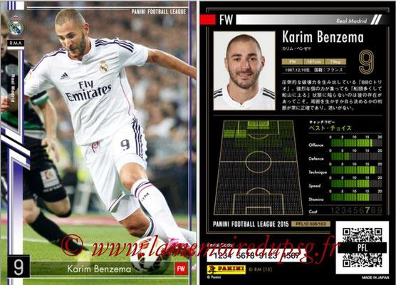 Panini Football League 2015 - PFL10 - N° 038 - Karim BENZEMA (Real Madrid)