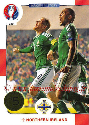Panini Euro 2016 Cards - N° 220 - Making History de Irlande du Nord