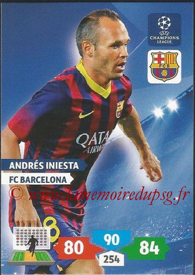 2013-14 - Adrenalyn XL champions League N° 069 - Andres INIESTA (FC Barcelone)