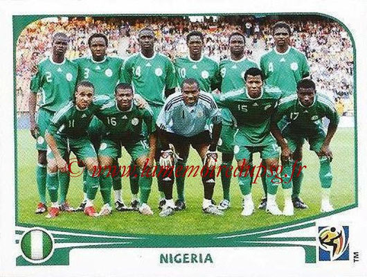 2010 - Panini FIFA World Cup South Africa Stickers - N° 125 - Équipe Nigeria