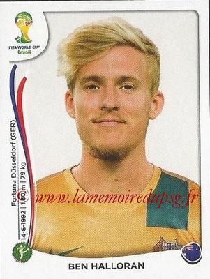 2014 - Panini FIFA World Cup Brazil Stickers - N° 181 - Ben HALLORAN (Australie)