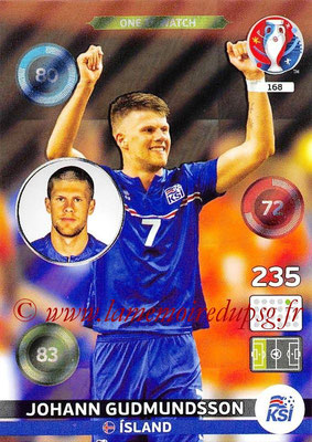Panini Euro 2016 Cards - N° 168 - Johann GUDMUNDSSON (Islande) (One To Watch)