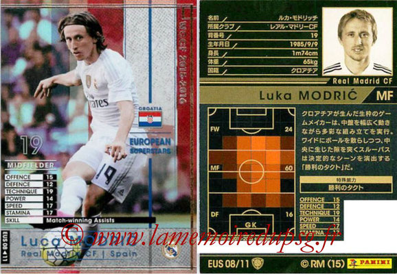 2015-16 - Panini WCCF - N° EUS08 - Luka MODRIC (Real Madrid CF) (European Superstars)