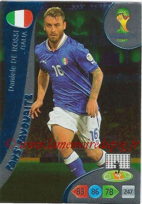 2014 - Panini FIFA World Cup Brazil Adrenalyn XL - N° 342 - Daniele DE ROSSI (Italie) (Fan's favorite)
