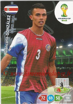 2014 - Panini FIFA World Cup Brazil Adrenalyn XL - N° 090 - Giancarlo GONZALEZ (Costa Rica)
