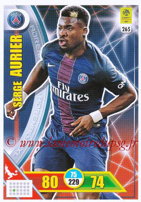 2017-18 - Panini Adrenalyn XL Ligue 1 - N° 265 - Serge AURIER (Paris Saint-Germain)