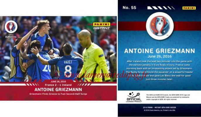 Panini Instant Euro 2016 - N° 055 - Antoine GRIEZMANN