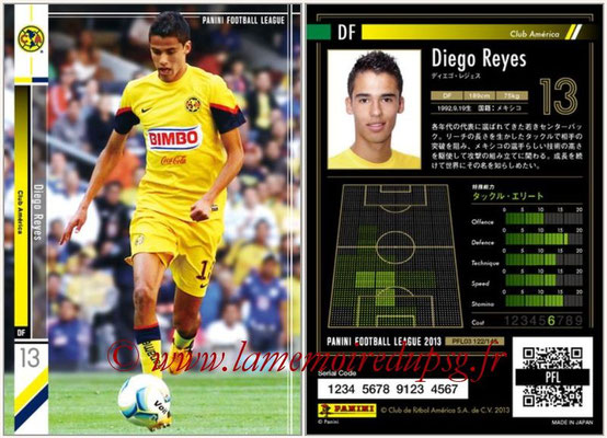 Panini Football League 2013 - PFL03 - N° 122 - Diego Reyes (Club America)
