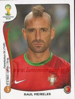 2014 - Panini FIFA World Cup Brazil Stickers - N° 519 - Raul MEIRELES (Portugal)