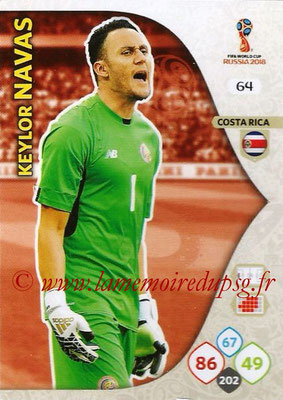 2018 - Panini FIFA World Cup Russia Adrenalyn XL - N° 064 - Keylor NAVAS (Costa Rica)