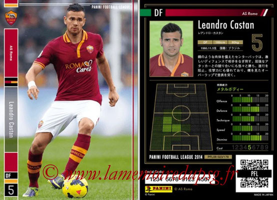 Panini Football League 2014 - PFL08 - N° 023 - Leandro CASTAN (AS Rome)