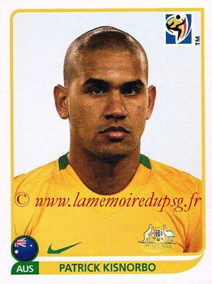 2010 - Panini FIFA World Cup South Africa Stickers - N° 282 - Patrick KISNORBO (Australie)