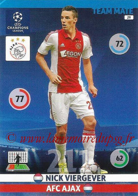 2014-15 - Adrenalyn XL champions League N° 029 - Nick VIERGEVER (AFC Ajax)