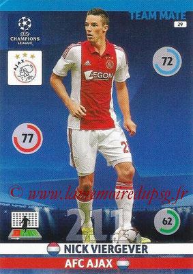 2014-15 - Adrenalyn XL champions League N° 029 - Nick VIERGEVER (AFC Ajax)