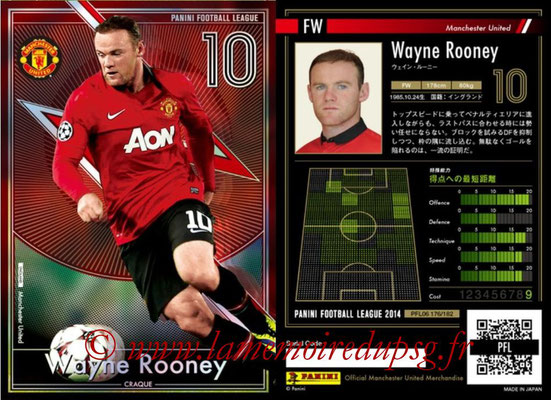 Panini Football League 2014 - PFL06 - N° 176 - Wayne ROONEY (Manchester Unied FC) (Craque)