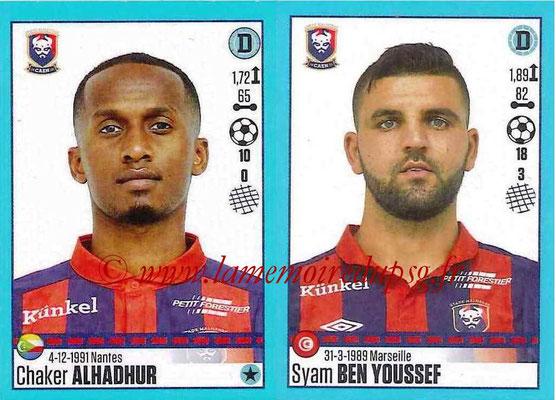 2016-17 - Panini Ligue 1 Stickers - N° 148 + 149 - Chaker ALHADHUR + Syam BEN YOUSSEF (Caen)