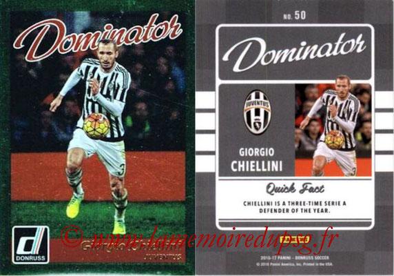 2016 - Panini Donruss Cards - N° D50 - Giorgio CHIELLINI (Juventus FC) (Dominator)