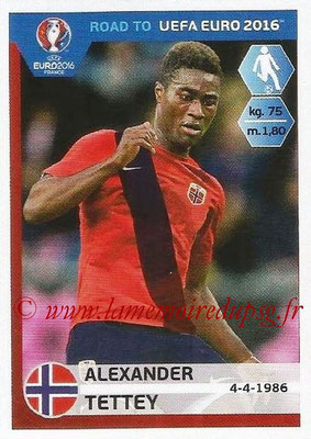 Panini Road to Euro 2016 Stickers - N° 186 - Alexander TETTEY (Norvège)