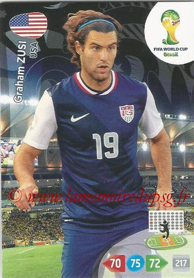 2014 - Panini FIFA World Cup Brazil Adrenalyn XL - N° 320 - Graham ZUSI (Etats-Unis)