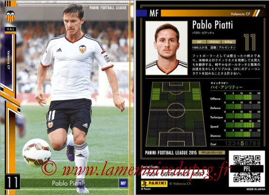 Panini Football League 2015 - PFL09 - N° 051 - Pablo PIATTI (FC Valence)