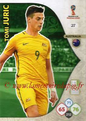 2018 - Panini FIFA World Cup Russia Adrenalyn XL - N° 027 - Tomi JURIC (Australie)