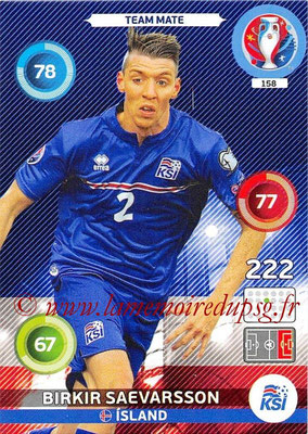 Panini Euro 2016 Cards - N° 158 - Birkir SAEVARSSON (Islande)