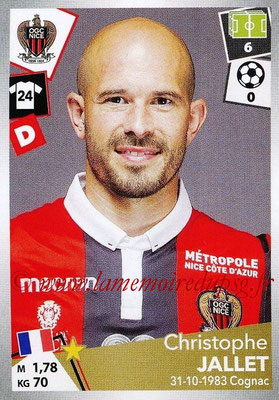 2017-18 - Panini Ligue 1 Stickers - N° 341 - Christophe JALLET (Nice)