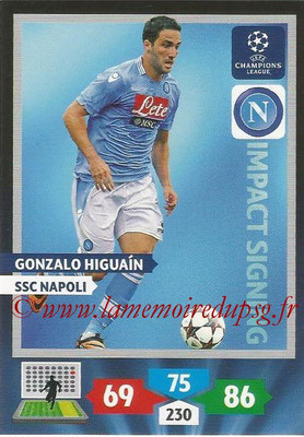 2013-14 - Adrenalyn XL champions League N° 281 - Gonzalo HIGUAIN (SSC Napoli) (Impact Signing)