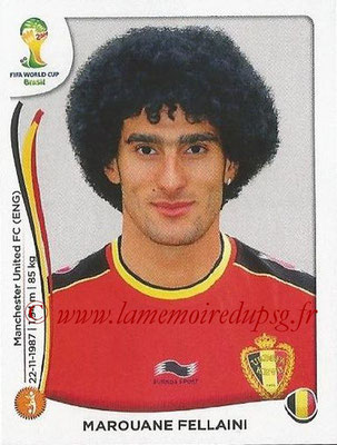 2014 - Panini FIFA World Cup Brazil Stickers - N° 576 - Marouane FELLAINI (Belgique)