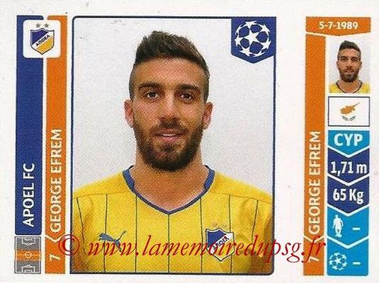2014-15 - Panini Champions League N° 484 - George EFREM (Apoel FC)