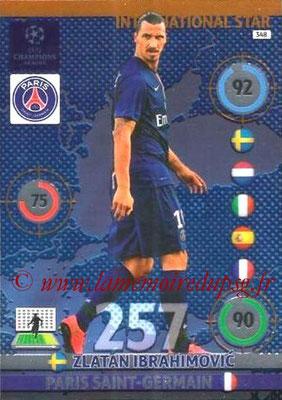 2014-15 - Adrenalyn XL champions League N° 348 - Zlatan IBRAHIMOVIC (Paris Saint-Germain) (International Star)