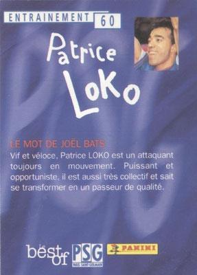 N° 060 - Patrice LOKO (Verso)
