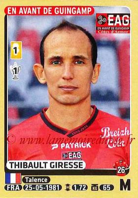 2015-16 - Panini Ligue 1 Stickers - N° 137 - Thibault GIRESSE (EA Guingamp)