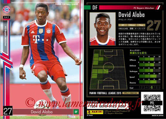 Panini Football League 2015 - PFL11 - N° 060 - David ALABA (Bayern Munich)